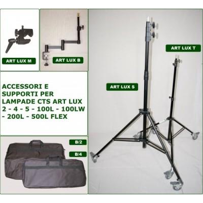 ACCESORIOS Y SOPORTES PARA LAS LÁMPARAS CTS ART LUX 2 - 4 - 5 - 100L - 100LW - 200L Y 500L FLEX